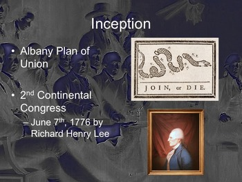 Power Point - The Articles of Confederation