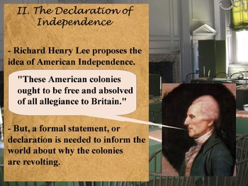 Power Point - The Declaration of Independence