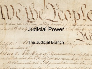 Power Point - The Judicial Branch