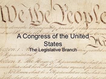 Power Point - The Legislative Branch