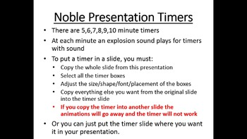 Power Point Timers