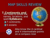 7 Continents and 5 Oceans -A Power Point And Study Guide Lesson