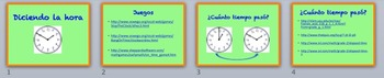 Power Point With Telling Time Websites (Spanish Titles)