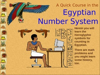 Ancient History- Egyptian Number System-Power Point & Work