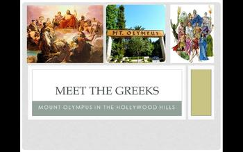 Power Point and Printable- Meet the Greeks: Mount Olympus in the Hollywood Hills