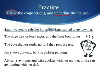 Power Point and Quiz for Simple, Compound, and Complex Sentences