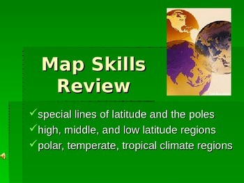 Latitude and Climate -Map Skills Review- Power Point and Study Guide Lesson