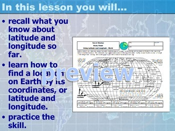 Lesson on Latitude and Longitude-Power Point and Study Guide- The World