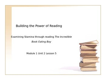 Power Point for Expeditionary Learning Module 1 Unit 2 Lesson 5.