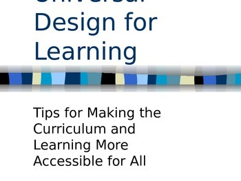 Power Point for Universal Design for Learning