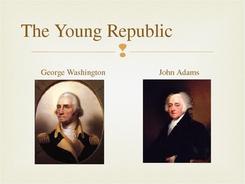 Power Point highlighting the first 3 presidents