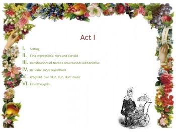 Power Point lecture for Ibsen's A Doll's House, Act I