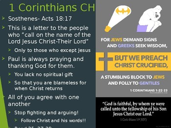 Power Point notes on 1 + 2 Corinthians