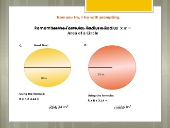 Power Point on Area and Circumference of Circles