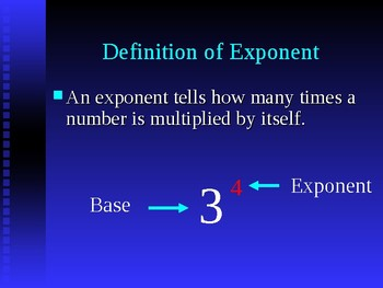 Power Point on Exponents