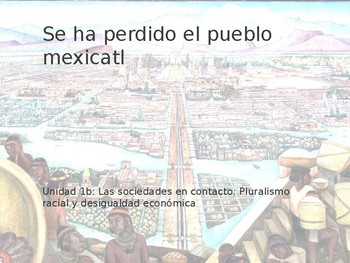 Power Point On Se Ha Perdido El Pueblo Mexicatl For Ap Spanish Literature