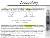 Power Point on Solving equations with variables on both sides