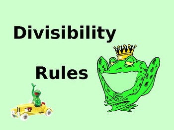 Power Point on the divisibility rules