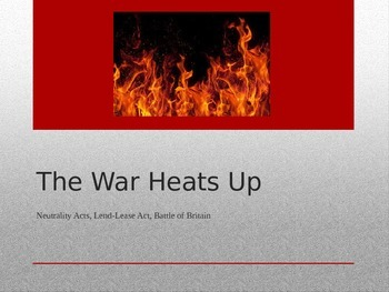 Power Point over the Neutrality Acts, Battle of Britain an