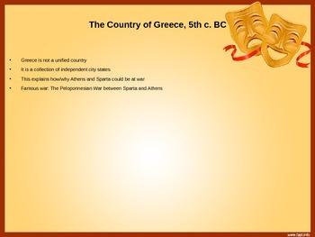 Power Point presentation on Oedipus Myth and Greek Theater, intro to Antigone