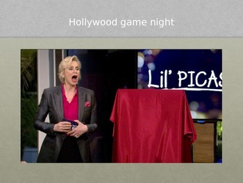 Power Point/Paint Project - Hollywood Game Night