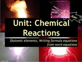 Chemical Reactions: Set of 6 Power Points!