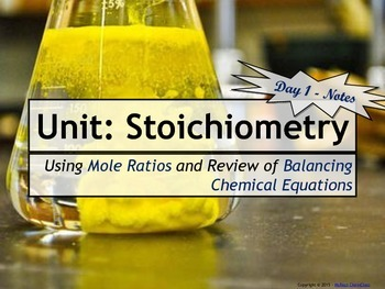 Stoichiometry: Set of 5 Power Points!
