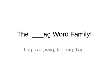 Power Points for 4 sets of Short a Word Families!