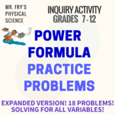 Power Practice Problems - Solving for All Variables