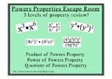 Power Properties Review Escape Room (No Negative Exponents)