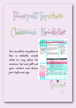Super hero themed classroom newsletter template
