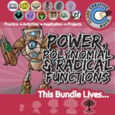 Power, Polynomial & Radical Functions -- Algebra 2 Curriculum Unit Bundle