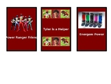 Power Ranger Power Cards - Social Stories in the Form of A