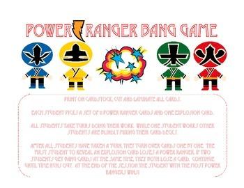 Power Rangers Bang Game