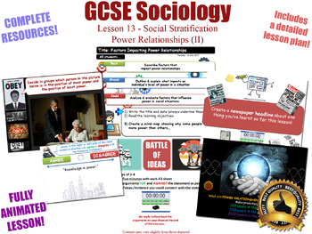 Power Relationships (II) - Social Stratification (GCSE Sociology - L13/20)