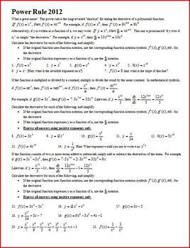 Power Rule 2012 (Editable)