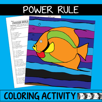 Laws of Exponents Coloring Activity - Power Rule