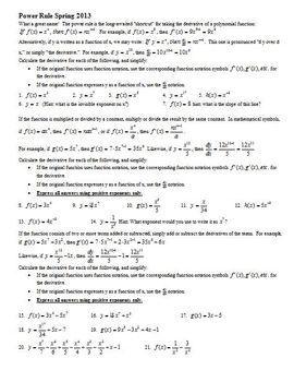 Power Rule Spring 2013 (Editable)