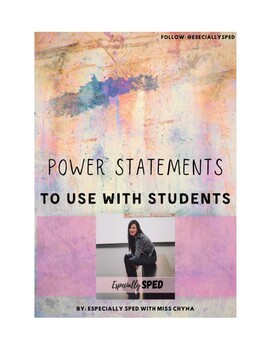 Power Statements to Use with Students