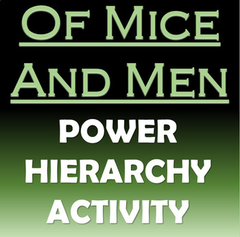 Power Hierarchy in Of Mice and Men - Activity