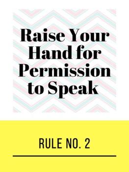 Power Teaching Classroom Rules - Chevron Theme