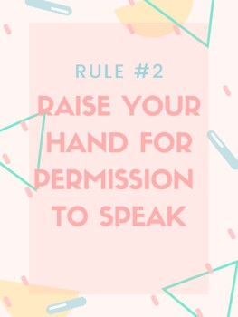 Power Teaching Classroom Rules Posters - 80's Theme