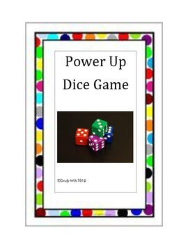 """Power Up"" Exponent Rules Dice Game"