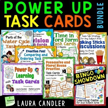 Power Up Task Cards Webinar Bundle