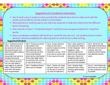 Power Up! Vocabulary Ladders with Writing - Proud Feelings - Week 5/Week 6
