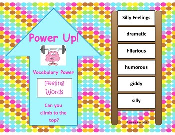 Power Up! Vocabulary Ladders with Writing - Silly Words - Week 7/Week 8