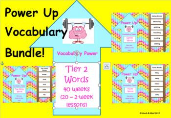 Power Up! Vocabulary Words with Writing BIG Bundle - 40 weeks