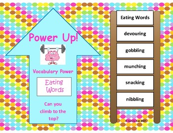 Power Up!  Vocabulary Words with Writing - Eating Words - Week 19/Week 20