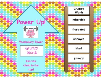 Power Up! Vocabulary Words with Writing - Grumpy Words - Week 33/Week 34
