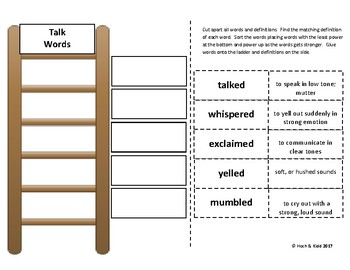 Power Up! Vocabulary Words with Writing - Talk Words - Week 27/Week 28